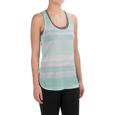 Brooks Ghost Racerback Running Shirt - Sleeveless (For Women) in Surf Scape - Closeouts