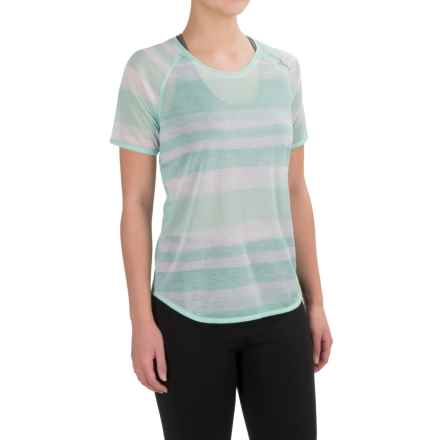 Brooks Ghost Running Shirt - Short Sleeve (For Women) in Surf Scape - Closeouts