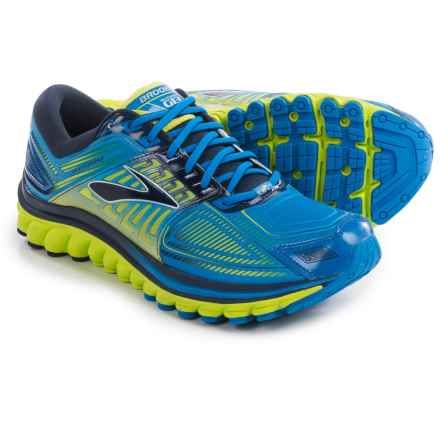 Brooks Glycerin 13 Running Shoes (For Men) in Electric Blue Lemonade/Lime Punch/Dress Blues - Closeouts