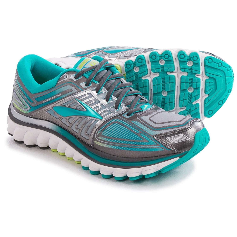 Brooks Glycerin  Womens Shoes Charcoal Blue Green