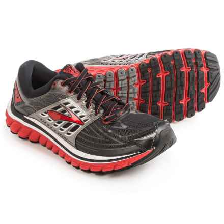 Brooks Glycerin 14 Running Shoes (For Men) in Black/High Risk Red/Anthracite - Closeouts