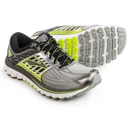 Brooks Glycerin 14 Running Shoes (For Men) in Silver/Black/Lime Punch - Closeouts