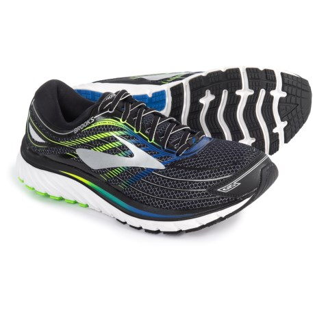 Brooks Glycerin 15 Running Shoes (For Men) in Black/Electric Brooks Blue/Green Gecko