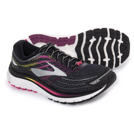 611a4244c1a18 Brooks Glycerin 15 Running Shoes (For Women) in Black/Pink Peacock/Plum
