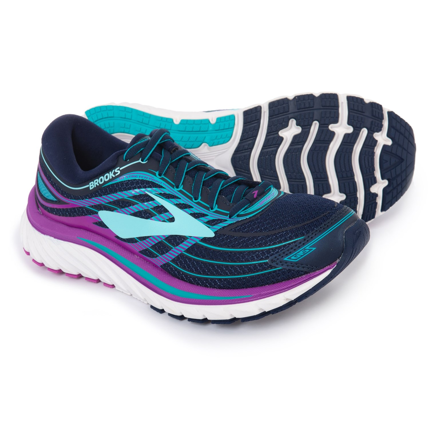 46689c9782e Brooks Glycerin 15 Running Shoes (For Women) in Evening Blue Purple Cactus  Flower