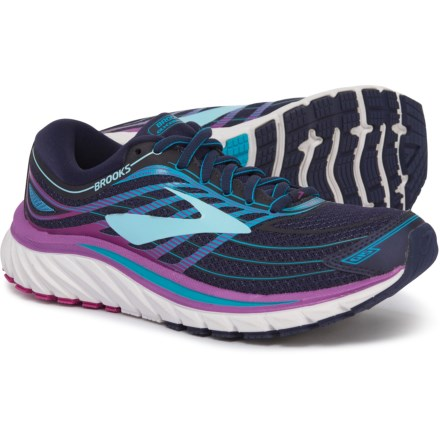 a38c374c549 Brooks Glycerin 15 Running Shoes (For Women) in Evening Blue Purple Cactus  Flower