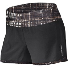 Brooks Glycerin 2-in-1 Shorts - Recycled Materials (For Women) in Black/Black Hatch - Closeouts