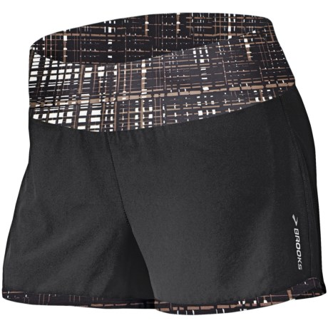 Brooks Glycerin 2-in-1 Shorts - Recycled Materials (For Women) in Black/Black Hatch