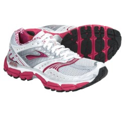 Brooks Glycerin 9 Running Shoes (For Women) in White/Silver/Pavement/Cerise/Grenadine