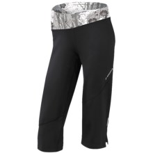 Brooks Glycerin II Capris (For Women) in Black/White Wildflower Print - Closeouts