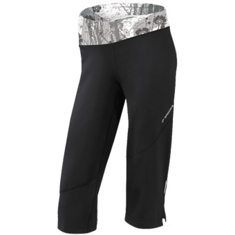 Brooks Glycerin II Capris (For Women) in Black/White Wildflower Print