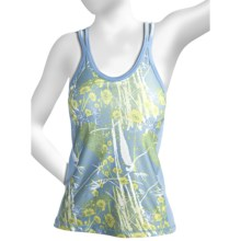 Brooks Glycerin II Print Support Tank Top - Built-In Bra (For Women) in Powder - Closeouts