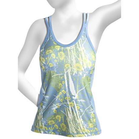 Brooks Glycerin II Print Support Tank Top - Built-In Bra (For Women) in Powder