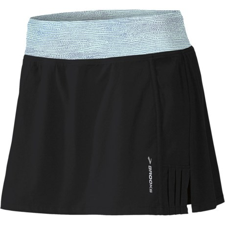 Brooks Glycerin Skort (For Women) in Black/Seafoam Mist Print