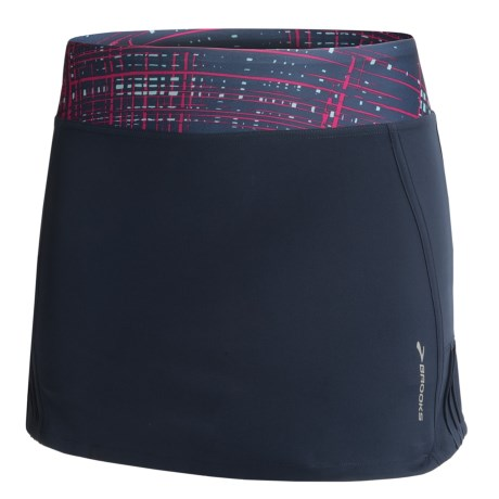 Brooks Glycerin Skort (For Women) in Midnight/Midnight Hatch