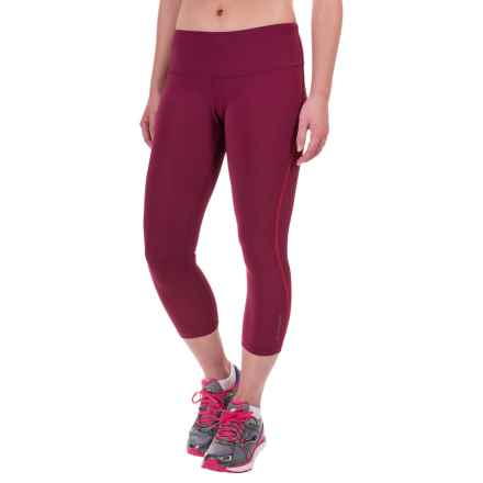 Brooks Go-To Capris (For Women) in Sangria/Poppy - Closeouts
