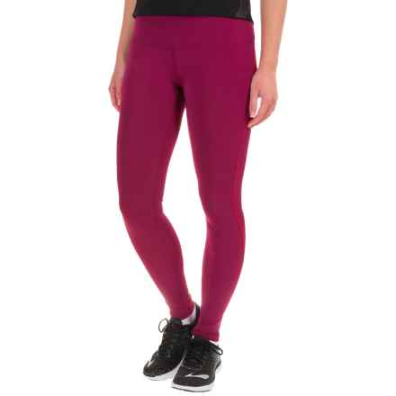 Brooks Go-To Leggings (For Women) in Sangria/Poppy - Closeouts
