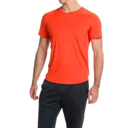 Brooks Go-To Running T-Shirt - UPF 30+, Crew Neck, Short Sleeve (For Men) in Desert - Closeouts