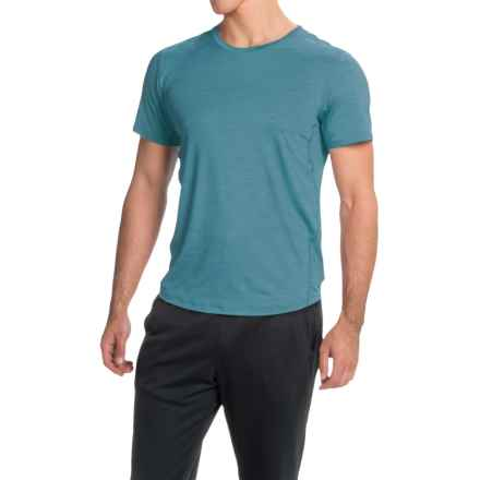 Brooks Go-To Running T-Shirt - UPF 30+, Crew Neck, Short Sleeve (For Men) in River - Closeouts