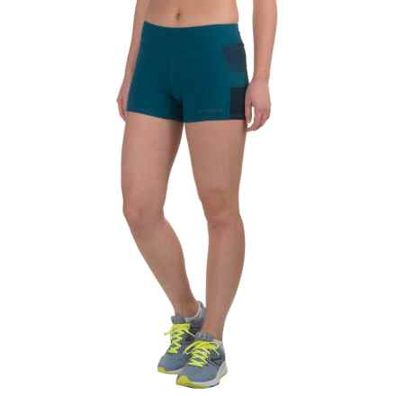 "Brooks Greenlight 3"" Tight Running Shorts (For Women) in River/River Scape - Closeouts"