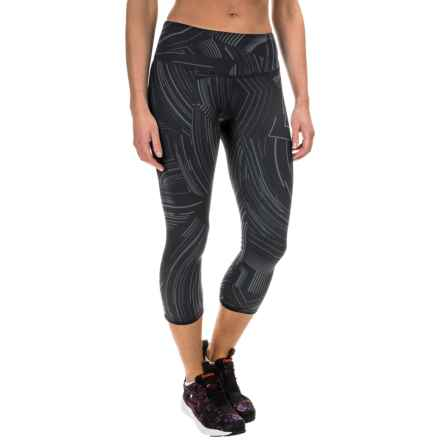Brooks Greenlight Capris (For Women) in Black Cosmo R/Asphalt - Closeouts