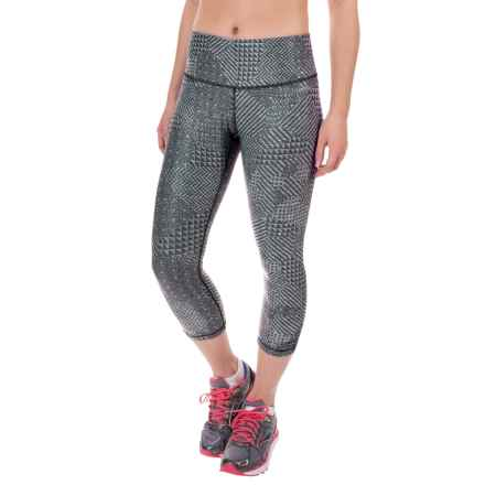 Brooks Greenlight Capris (For Women) in Heather Oxford Mosaic R/Heat - Closeouts