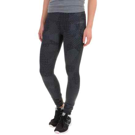 Brooks Greenlight Reversible Leggings (For Women) in Asphalt Mosaic/Asphalt - Closeouts