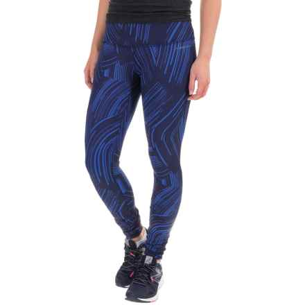 Brooks Greenlight Reversible Leggings (For Women) in Wave Cosmo - Closeouts