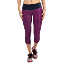 Brooks Greenlight SE Capris - Reversible (For Women) in Currant Little Sunshine/Navy - Closeouts