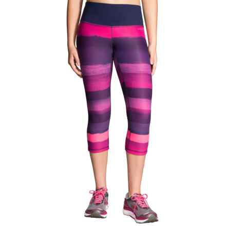 Brooks Greenlight SE Capris - Reversible (For Women) in Navy Scape/Light Bloom - Closeouts