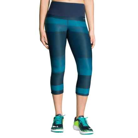 Brooks Greenlight SE Capris - Reversible (For Women) in River Scape/River - Closeouts