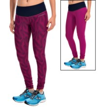 Brooks Greenlight SE Running Tights - Reversible (For Women) in Currant Little Sunshine/Navy - Closeouts