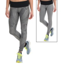 Brooks Greenlight SE Running Tights - Reversible (For Women) in Heather Oxford Big Sunshine/Bl - Closeouts