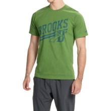 Brooks Heritage Running T-Shirt - UPF 30+, Crew Neck, Short Sleeve (For Men) in Forest - Closeouts