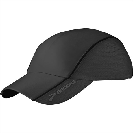 Brooks HVAC Infiniti Mesh Hat (For Men and Women) in Black