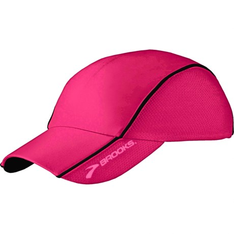 Brooks HVAC Infiniti Mesh Hat (For Men and Women) in Pomegranite