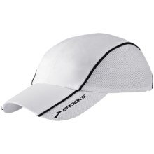 Brooks HVAC Infiniti Mesh Hat (For Men and Women) in White - Closeouts