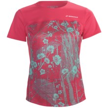 Brooks HVAC Synergy Shirt - UPF 40+, Short Sleeve (For Women) in Rouge - Closeouts