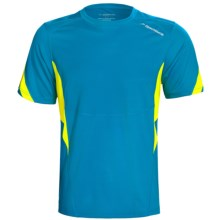 Brooks HVAC Synergy T-Shirt - UPF 40+, Short Sleeve (For Men) in Atlantic/Sulphur - Closeouts