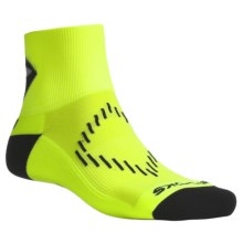 Brooks Infiniti DNA Socks - Ankle, Lightweight (For Men) in Yellow/Black - 2nds