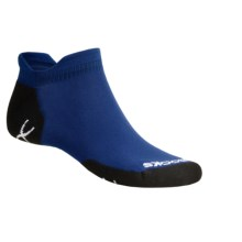 Brooks Infiniti Double Tab Socks (For Men and Women) in Blue/Black - 2nds