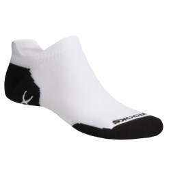 Brooks Infiniti Double Tab Socks (For Men and Women) in White/Black