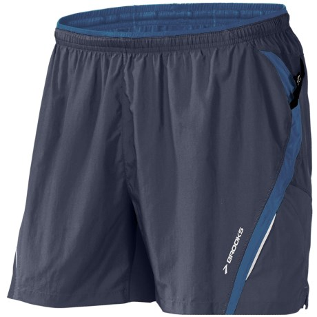 Brooks Infiniti II Notch Shorts - Built-In Mesh Brief (For Men) in Midnight/Galaxy