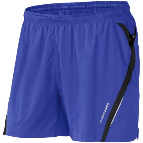 Brooks Infiniti II Notch Shorts - Built-In Mesh Brief (For Men) in Ultramarine/Black