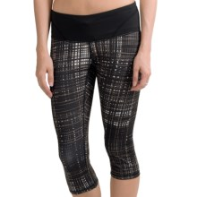 Brooks Infiniti III Capris (For Women) in Black Hatch/Black - Closeouts