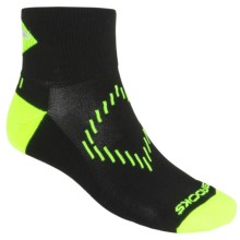Brooks Infiniti Nightlife Socks - Ankle (For Men and Women) in Black/Neon Yellow/Glow - Closeouts