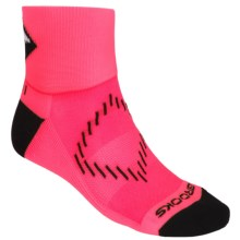 Brooks Infiniti Nightlife Socks - Ankle (For Men and Women) in Bright Pink/Black - Closeouts