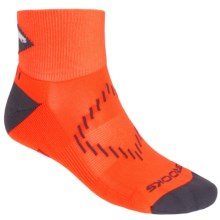 Brooks Infiniti Nightlife Socks - Ankle (For Men and Women) in Brooks Bright Orange/Black/ Glow - Closeouts