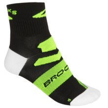 Brooks Infiniti Polypro Socks - Ankle (For Men and Women) in Black/Neon Yellow - Closeouts