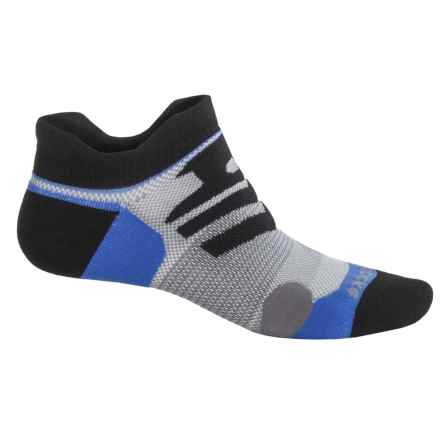 Brooks Infiniti Race Day Double-Tab Socks - Below the Ankle (For Men and Women) in Black/Galaxy/Grey - Closeouts